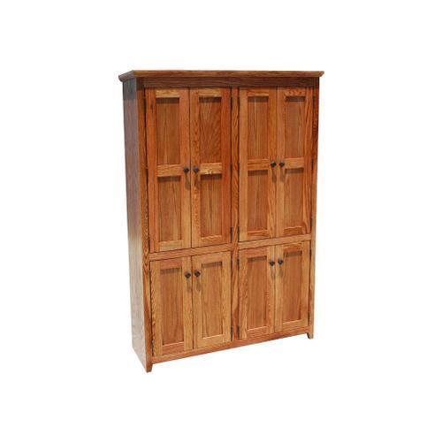"""Shaker Oak 48"""" 8-Door Bookcase"""