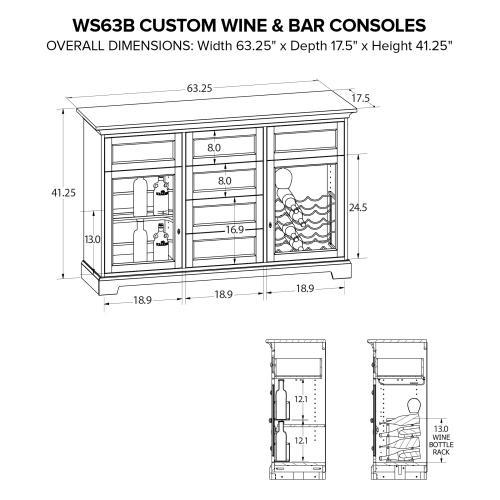 Product Image - WS63B Wine & Bar Custom Console