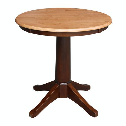 "John Thomas Furniture - 30"" Pedestal Table in Cinnamon / Espresso"