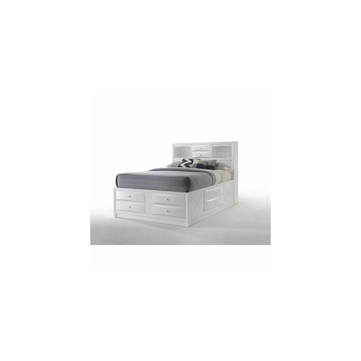 ACME Ireland Eastern King Bed w/Storage - 21696EK - White