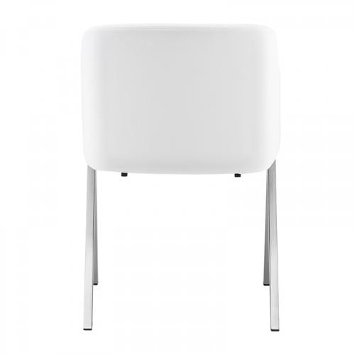 VIG Furniture - Modrest Darcy Modern White Leatherette Dining Chair (Set of 2)