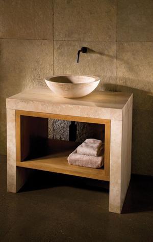 Siena Lastra Vanity Travertino Romano Product Image