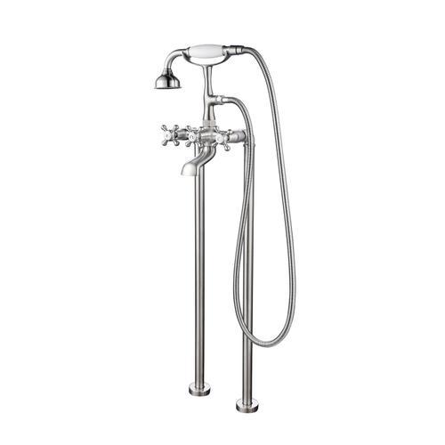 Freestanding Filler wtih Diverter - Brushed Nickel