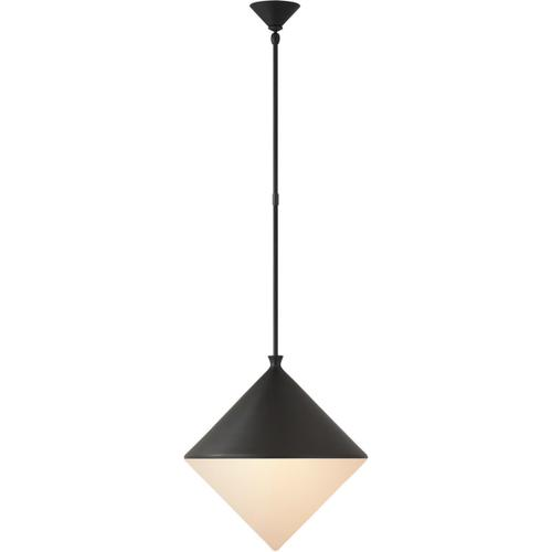 AERIN Sarnen LED 18 inch Matte Black Pendant Ceiling Light, Large