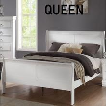 LOUIS PHILIPPE WHITE QUEEN BED