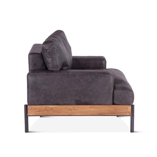 Portofino Leather Armchair Morocco Black