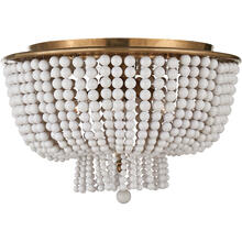 AERIN Jacqueline 4 Light 18 inch Hand-Rubbed Antique Brass Flush Mount Ceiling Light