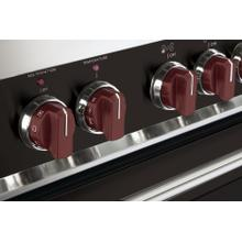 Color Knob Set for Designer Single Oven Induction Range - Burgundy