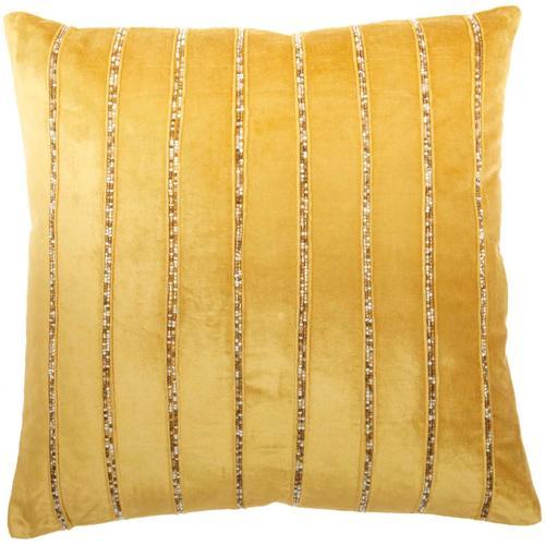 """Sofia Az217 Gold 20"""" X 20"""" Throw Pillow"""