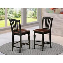 "Chelsea Stools with FAUX LEATHER upholstered seat, 24"" seat height"