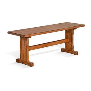 Sunny Designs - Sedona Side Bench w/ Wood Seat