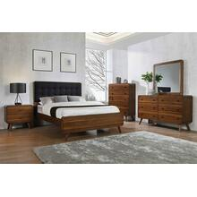 Robyn Mid-century Modern Dark Walnut Queen Four-piece Set