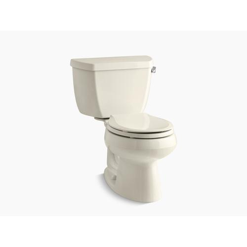 Kohler - Almond Two-piece Round-front 1.28 Gpf Toilet With Right-hand Trip Lever