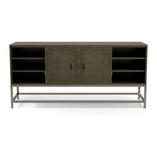 Two Door Tall Media Console