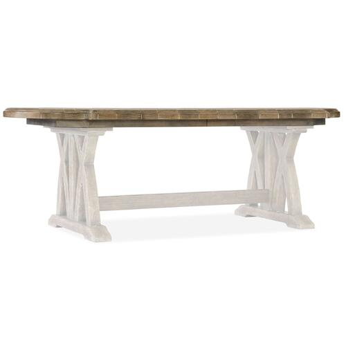 Dining Room Boheme Colibri 88in Trestle Dining Table Top w/1-20in Leaf
