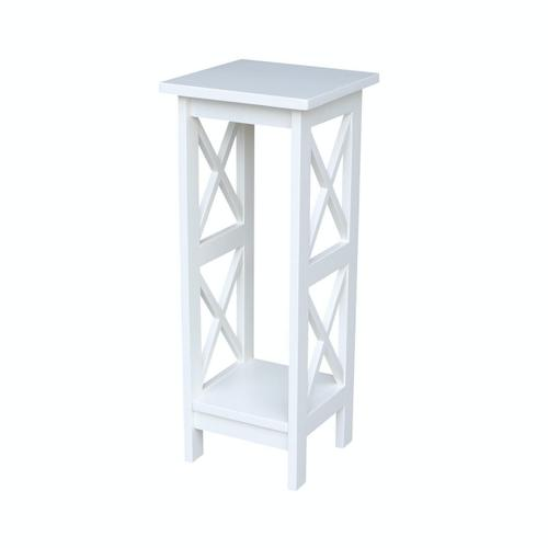 John Thomas Furniture - 30'' X Side Plant Stand in White