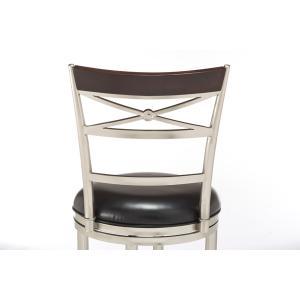 Kilgore Swivel Bar Height Stool - Matte Nickel