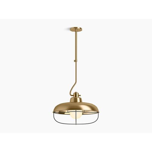 Modern Brushed Gold One-light XL Pendant