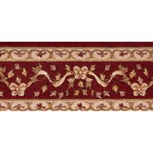 Ashton House Ribbon Trellis A01b Burgundy Border Broadloom Carpet