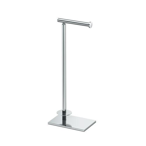 Tissue Holder Stand with Storage in Chrome