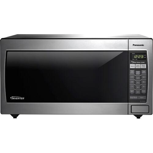 REFURBISHED Full-Size 1.6 Cu. Ft. Genius Countertop/Built-In Microwave Oven with Inverter Technology, Stainless NN-SN762S-RF