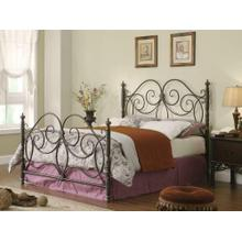 London Traditional Dark Bronze King Metal Bed