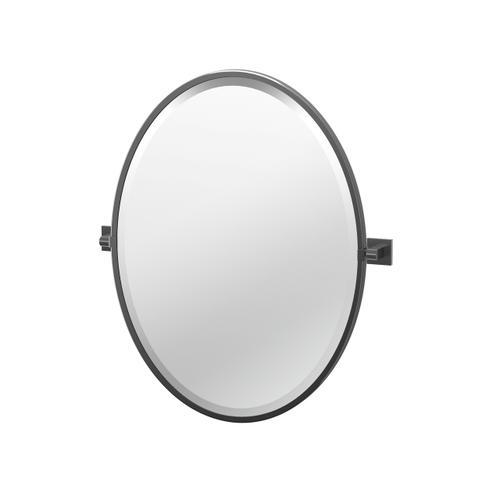 Elevate Framed Oval Mirror in Matte Black
