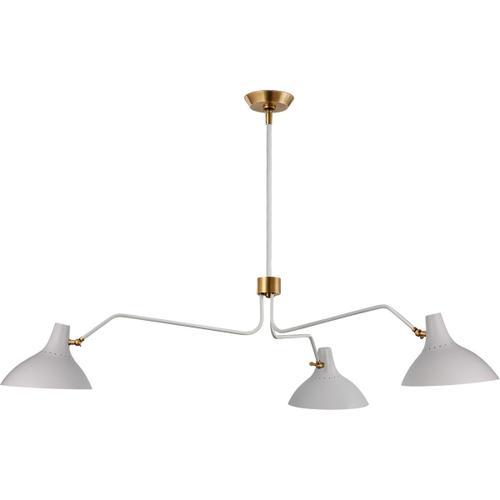 Visual Comfort - AERIN Charlton 3 Light 55 inch White Triple Arm Chandelier Ceiling Light, Large