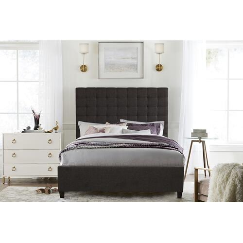 Bergen King Bed, Onyx Linen