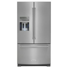26.8 cu. ft. 36-Inch Width Standard Depth French Door Refrigerator with Exterior Ice and Water and PrintShield finish Stainless Steel with PrintShield™ Finish