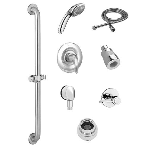 American Standard - Commercial Shower System Kit with Hand Shower and Fixed Shower Head - 1.5 GPM  American Standard - Polished Chrome