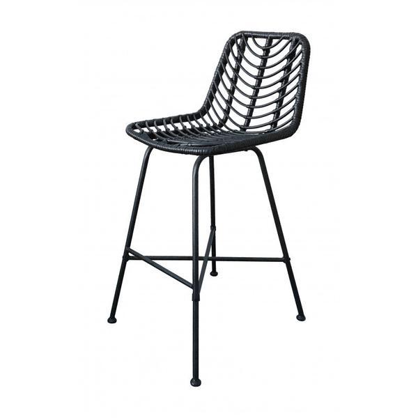 Malaga Bar Chair Black