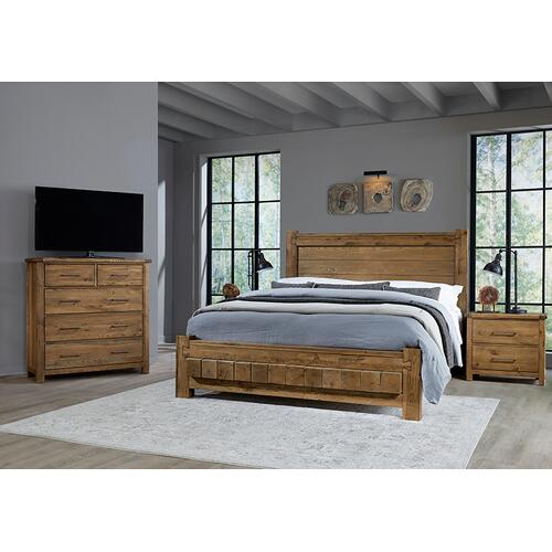 Vaughan-Bassett - Cal King Poster Bed with 6x6 FB