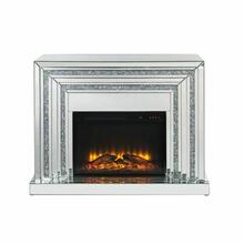 ACME Noralie Fireplace - 90523 - Glam - LED Electric Fireplace, Mirror, Glass, MDF, Faux Diamonds (Acrylic) - Mirrored and Faux Diamonds