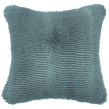 Luxury Faux Fur Cushion Cover - Teal