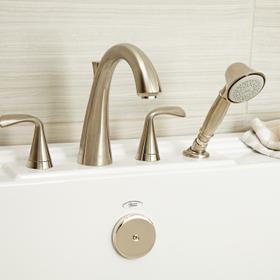 Fluent Deck-Mount Bathtub Faucet  American Standard - Brushed Nickel