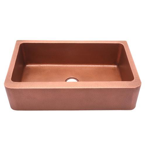 "Avena Single Bowl Copper Farmer Sink - 36"""