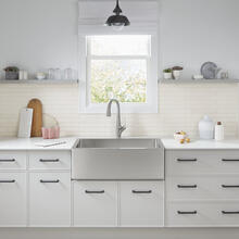 See Details - Avery 36 x 20 Single Bowl Farmhouse Sink Kitchen Sink  American Standard - Stainless Steel