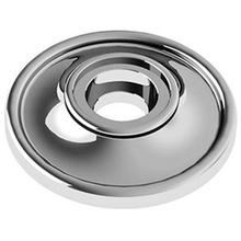 "Matt Black Chrome Concealed fix rose, 2 1/2"" diameter"
