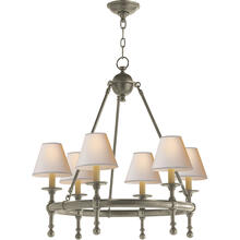 E. F. Chapman Classic 6 Light 26 inch Antique Nickel Chandelier Ceiling Light