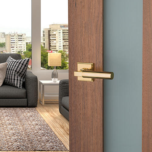 Non-Lacquered Brass L029 Estate Lever