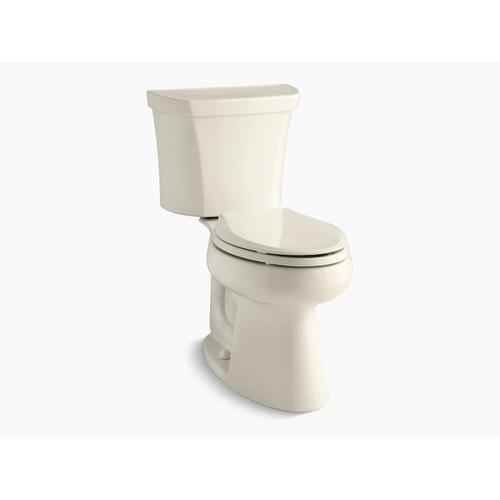 Kohler - Almond Two-piece Elongated Dual-flush Chair Height Toilet With Right-hand Trip Lever