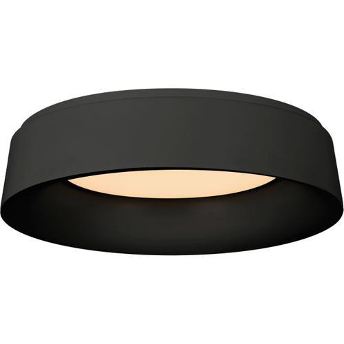 Barbara Barry Halo 1 Light 18 inch Matte Black Flush Mount Ceiling Light