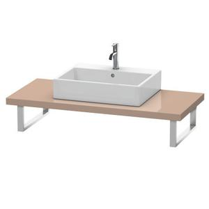Console For Above-counter Basin And Vanity Basin, Cappuccino High Gloss (lacquer)