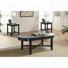 ACME Dimitri 3Pc Pack Coffee/End Table Set - 82755 - Dark Oak