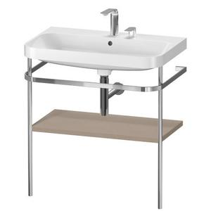 Furniture Washbasin C-shaped With Metal Console Floorstanding, Linen (decor)