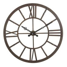 "47-1/2"" Round Metal Wall Clock, Rust Fin"