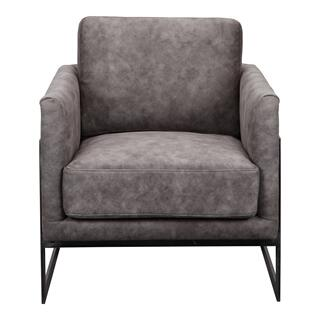 Luxley Club Chair Grey Velvet