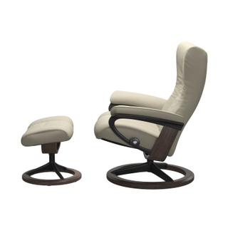 See Details - Stressless® Wing (S) Signature chair with footstool