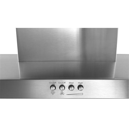 "30"" Stainless Steel Wall Mount Flat Range Hood"